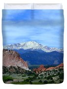 Pikes Peak And Garden Of The Gods 1 Duvet Cover