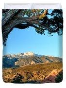 Pikes Peak From Ridge Trail Duvet Cover