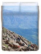 Pikes Peak Marathon And Ascent Duvet Cover