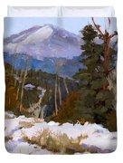 Pikes Peak Winter View Duvet Cover
