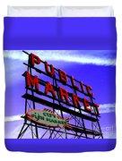 Pike's Place Market Duvet Cover