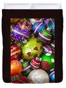 Pile Of Beautiful Ornaments Duvet Cover