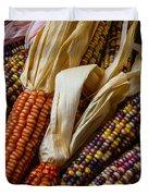 Pile Of Indian Corn Duvet Cover