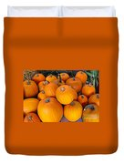 Pile Of Pumpkins For Sale Expressionist Effect Duvet Cover