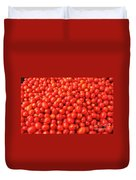 Pile Of Small Tomatos For Sale In Market Duvet Cover