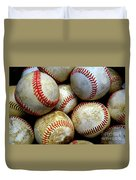 Pile Or Stack Of Baseballs For Playing Games Duvet Cover