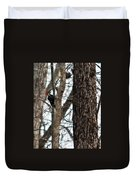 Pileated Billed Woodpecker Duvet Cover