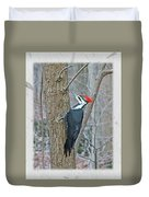 Pileated Woodpecker - Dryocopus Pileatus Duvet Cover
