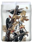 Pileated Woodpeckers Duvet Cover
