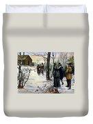 Pilgrims: Church Duvet Cover
