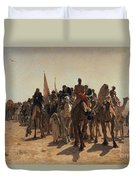 Pilgrims Going To Mecca Duvet Cover