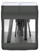 Black And White Pier Duvet Cover
