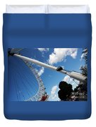 Pillar Of London S Ferris Wheel  Duvet Cover