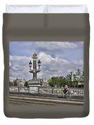 Pillar On The Blue Bridge Duvet Cover