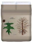 Pin Oak Tree Id Duvet Cover