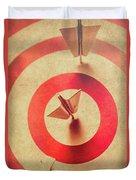 Pin Plane Darts Hitting Goals Duvet Cover