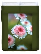 Pincushion Flowers Duvet Cover by Kathy Yates