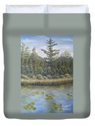 Pine And Lily Pads 2  Duvet Cover