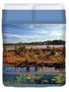 Pine Barrens Bog In New Jersey Duvet Cover