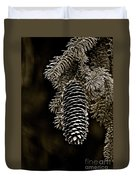 Pine Cone Bw Duvet Cover