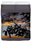 Pine Cone Sunset Duvet Cover