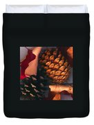 Pine Cones And Leaves Duvet Cover