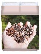 Pine Cones Hand Duvet Cover