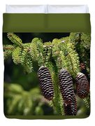 Pine Cones On The Bough Duvet Cover