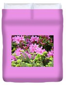 Pine Conifer Pink Azaleas 30 Summer Azalea Flowers Giclee Art Prints Baslee Troutman Duvet Cover