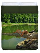 Pine Creek Afternoon Duvet Cover