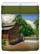 Pine Creek Gristmill Duvet Cover