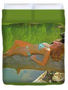 Pine Creek Summer Afternoon Duvet Cover