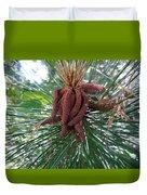 Pine Flowers Duvet Cover