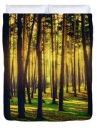 Pine Forest In La Boca Del Asno-segovia-spain Duvet Cover