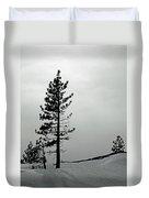 Pine In Snow Duvet Cover