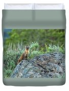Pine Marten With Attitude Duvet Cover