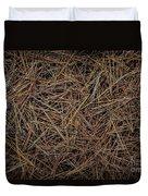Pine Needles On Forest Floor Duvet Cover