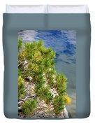 Pine Needles Over Water Duvet Cover