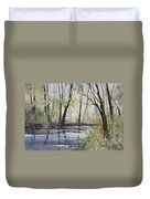 Pine River Reflections Duvet Cover by Ryan Radke