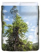 Pine Tree Alive Duvet Cover