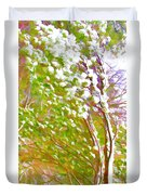 Pine Tree Covered With Snow Duvet Cover