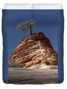 Pine Tree On Sandstone Duvet Cover