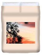 Pine Tree Silhouette Duvet Cover
