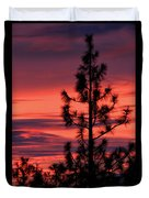 Pine Tree Sunrise Duvet Cover