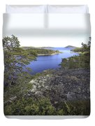 Pine Trees At The Coast Duvet Cover