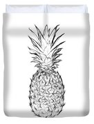 Pineapple Black And White Duvet Cover