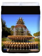 Pineapple Fountain Charleston Sc Duvet Cover