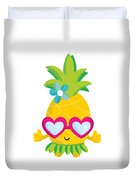 Pineapple Hula Duvet Cover