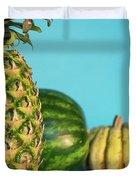 Pineapple, Watermelon, Pumpkin Duvet Cover
