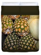 Pineapples And Melons Duvet Cover